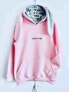 "BLUZA ""Catch me! ...If you can""/ pink"